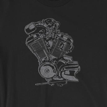Vintage Motorcycle Engine Biker Unisex T-Shirt