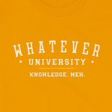College Parody Whatever University, Knowledge. Meh. Short-Sleeve Unisex T-Shirt