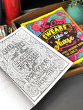 No One Swears Like A Nurse Adult Coloring Book