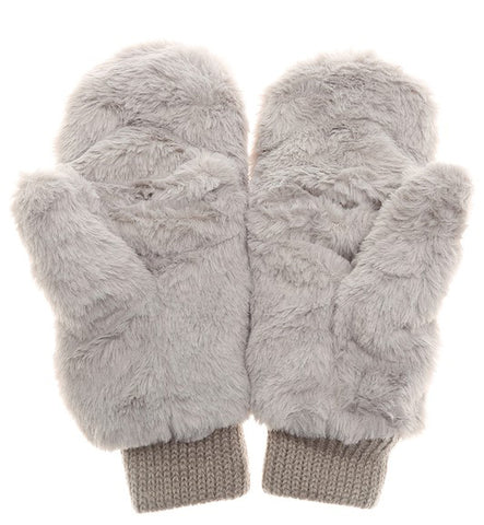 Flip-Top Mittens - Gray