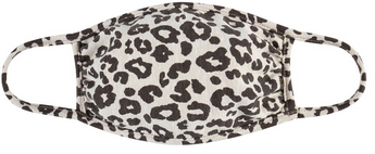 Little Kids Face Mask - Tan Leopard