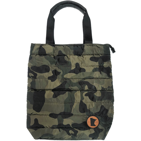 MN 1858 Camo Quilted Tote