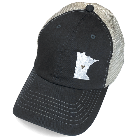 MN Mesh Hat - Charcoal