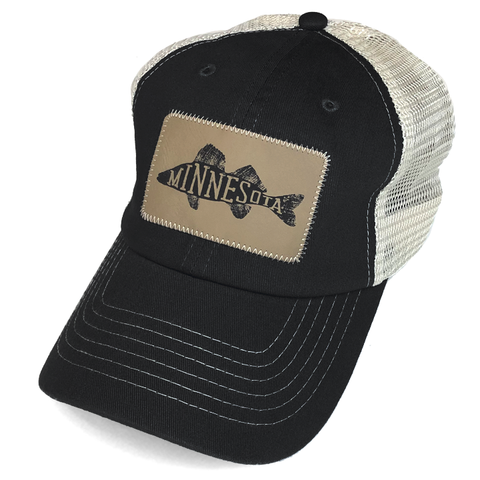 MN Walleye Mesh Hat - Black