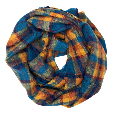 Infinity Scarf - Teal/Orange