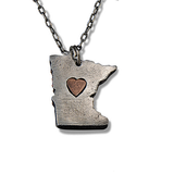 MN Heart Necklace