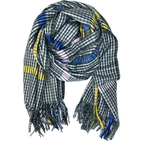 Flannel Colorblock Oblong Scarf
