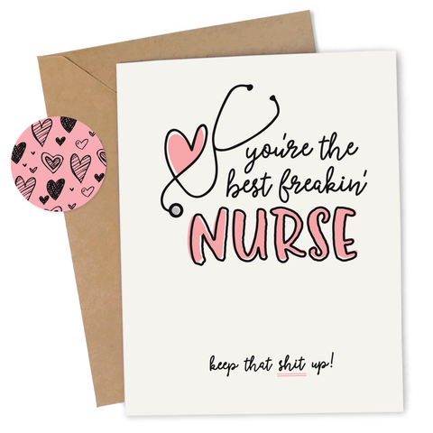 Best Freakin' Nurse Card