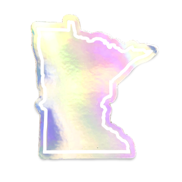 MN sticker - holographic