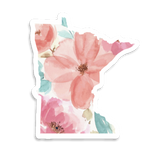 MN sticker - watercolor floral