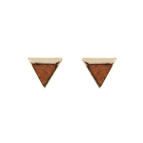 Triangle Wood Tone Studs