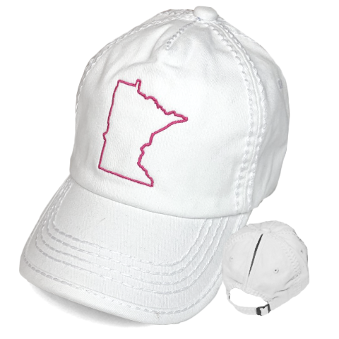 Youth MN Ponytail Hat - White