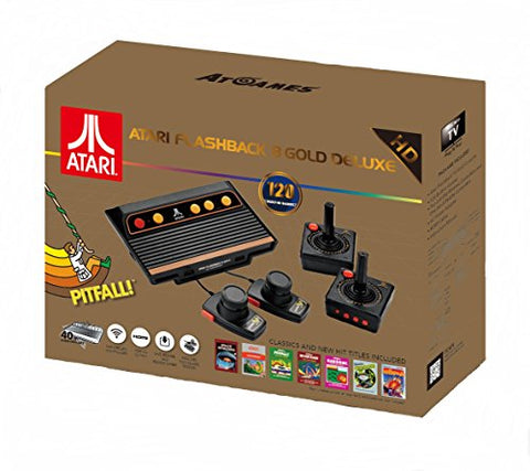 Atari Flashback 8 Gold Deluxe with 120 Games + 2 Controllers + 2 Paddles