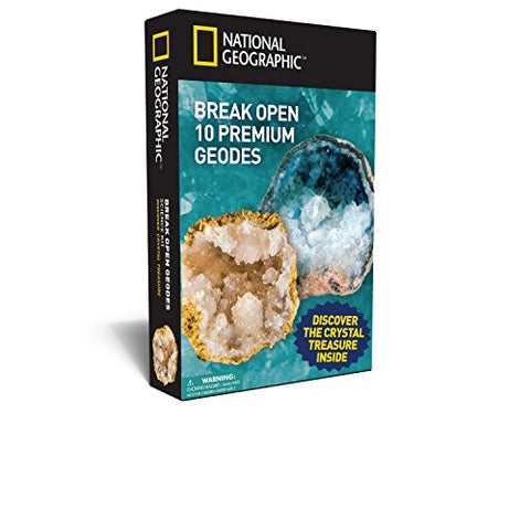 National Geographic Break Open 10 Geodes and Explore Crystals Science Kit