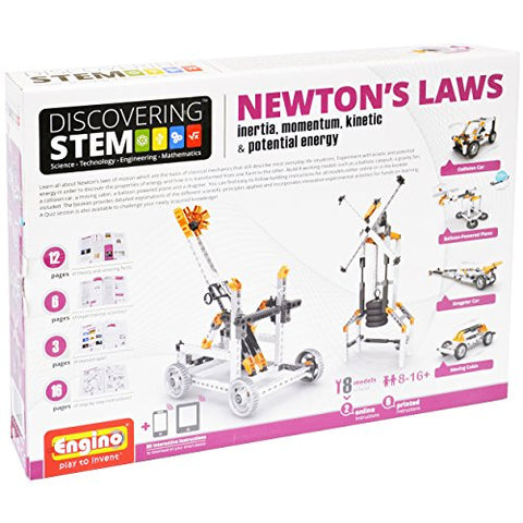 Engino Discovering STEM Newton's Laws Inertia, Momentum, Kinetic & Potential Energy Construction Kit
