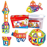 PlayLab 65 Piece Set Magnetic 3D Building Tiles with Storage Case