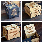 Hedwig's Theme Harry Potter Music Box Wooden with Hand Cranked Movement