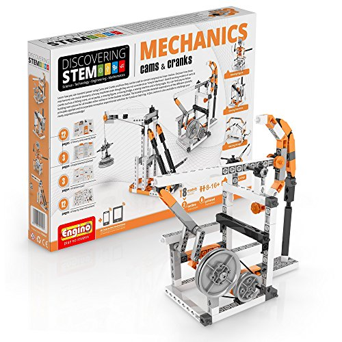 Engino Discovering STEM Mechanics Cams & Cranks Construction Kit