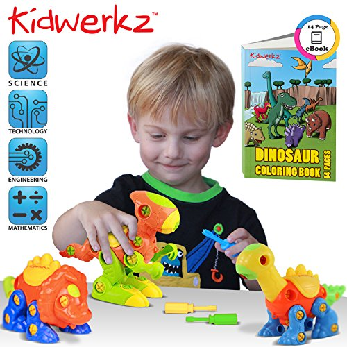Kidwerkz Dinosaur Construction Play Set