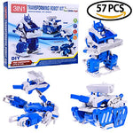 Take Apart DIY Boy Robot Kit Electric Assembly Mechanics Robot, Tank, Scorpion Toy Play Set - 57 pcs