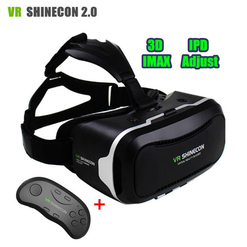 VR Headset Virtual Reality 3D Glasses BOX Original VR Shinecon ii 2.0 Pro Version 3 D Helmet Cardboard+Smart BT Wireless Gamepad