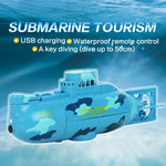 6CH Speed Radio Control Electric Mini RC Submarine