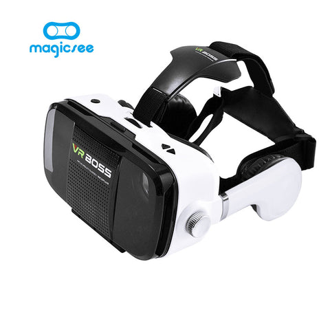 "VR BOSS Z5 VR Glasses Virtual Reality VR With Microphone and Headset Google Cardboard for 4""~6"" Smartphone"