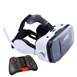 "VR BOSS 3D VR Glasses Virtual Reality VR With Headset+Microphone Google Cardboard for 4""~6.3"" Smartphone+ Remote Gamepad"