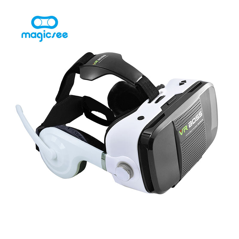 2017 New VR BOSS 3D Glasses Virtual Reality VR Headset + Microphone
