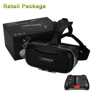 Original VR Shinecon 2.0 Google Cardboard Virtual Reality Smartphone Goggles VR Glasses Headset With Mocute Bluetooth Gamepad