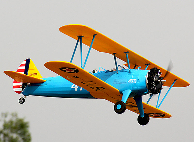 Boeing Stearman PT-17 RC Aircraft + Remote Control