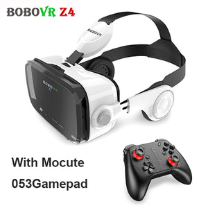 Stereo BOBOVR Z4 3D Glasses Virtual Reality VR Headset BOBO Google Cardboard Head Mount VR BOX + Wireless Gamepad for 4-6' Phone