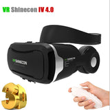 VR Shinecon 4.0 Virtual Reality 3D Glasses with Headphone Google Cardboard 2.0 VR Headset For 4.5-6.0' Smartphone pk Z4