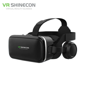 VR Shinecon 6.0 Pro Stereo VR Headset  + Headphone for 4-6' Phone