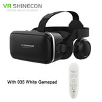 VR Shinecon 6.0 Pro Stereo VR Headset Virtual Reality Helmet Smartphone 3D Glasses Mobile Google BOX + Headphone for 4-6' Phone