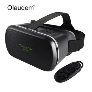VR Glasses Virtual Reality 3D Glasses VR Mezstar Headset For 4~6 inch Smartphones + Bluetooth 3.0 Remote Controller VR1018