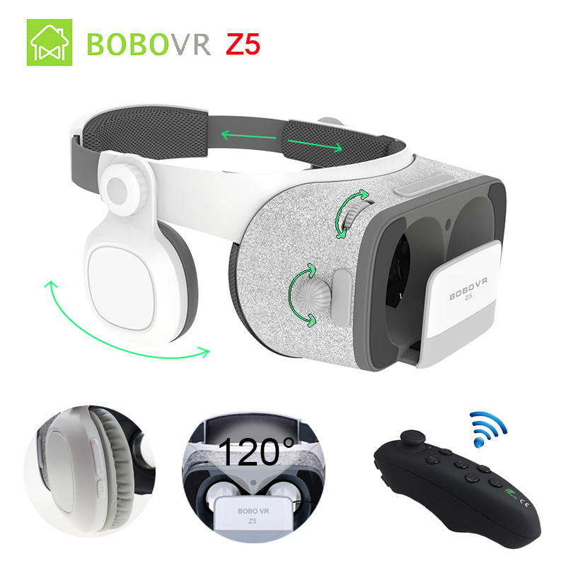 Original BOBOVR Z5 VR 3D Stereo Glasses Google Cardboard Virtual Reality VR Phone Headset Helmet Box for 4.7-6.2' Mobile Phone