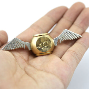 Fidget Spinner: Harry Potter Golden Snitch Metal Toy with Cupid Wings