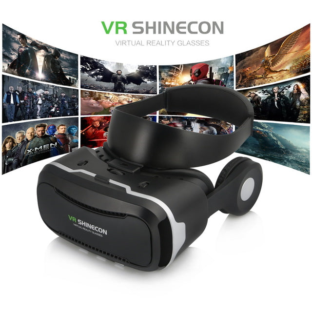 2017 VR Headset Shinecon VR Pro with Headphone