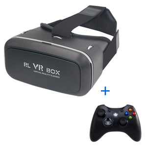"VR Box 3D Virtual Reality Glasses/Goggles Headset VR Glasses Cardboard For Smarthone 3.5-6.0"" With Wireless Controllers Gamepad"
