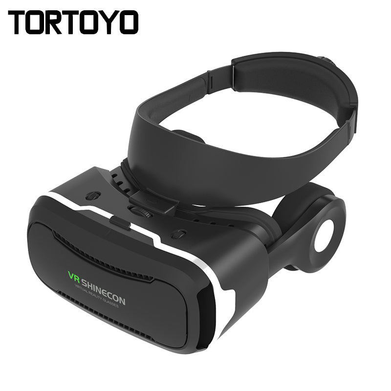 "Original VR Shinecon 4.0 Virtual Reality Headset 3D Glasses Google VR Box With HIFI Headset Headphone for 3.5-6.0"" Smart Phones"