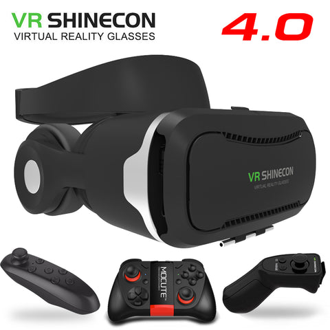 a1cd006c31b VR Shinecon 4.0 Stereo Virtual Reality Smartphone 3D Glasses Headset Google  BOX + Headphone   Control