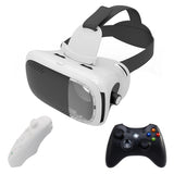 VR BOX 3D Headset Virtual Reality Glasses/Goggles Google Cardboard 3D Glasses For Smartphone with Wireless Controllers Joystick