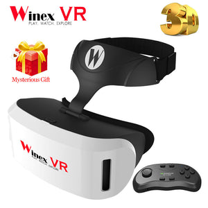 Winex 3D Glasses VR Google Cardboard VR BOX  XiaoZhai BOBO VR Z4 Virtual Reality Headset Goggles+Bluetooth Remote Gamepad