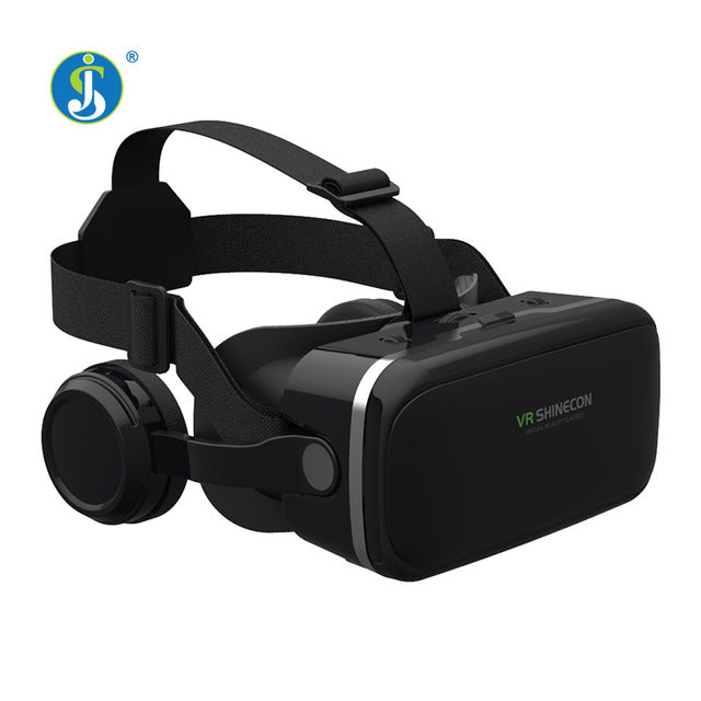 JSLINTER X6 Plus Virtual Reality Glasses 3D 360 Degree Google Cardboard Bluttooth Headset with 40mm Lens for Mobile Phone
