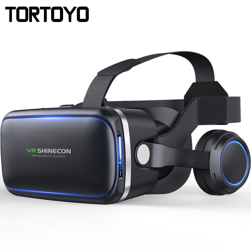 Shinecon VR 4.0 3D Virtual Reality Glasses Head Mount Helmet VR Box with HIFI Earphone Headset For 4.5-6.0 inch Phone Game Video
