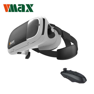 RITECH VMAX Immersive 3D 360 Virtual Reality Headset for 4.7-6' Smartphone with Bluetooth Remote Controller