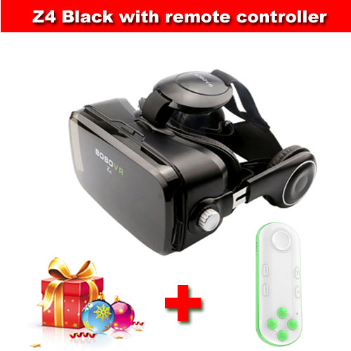 Original BOBOVR Z4 Leather 3D Cardboard Helmet Virtual Reality VR Glasses Headset Stereo Box BOBO VR for 4-6' Mobile Phone