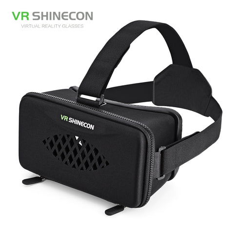 VR SHINECON Virtual Reality Glasses Vr Box Cardboard Headset 3D Cardboard Glasses Virtual Reality Box For Phone 3D Movie Game