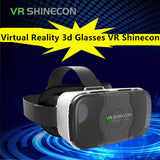 Shinecon VR Virtual Reality 3D Glasses Headset Head Mount Google Cardboard Helmet For Smartphone 4.-6'+ Remote